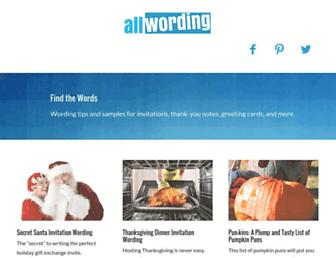 allwording.com screenshot