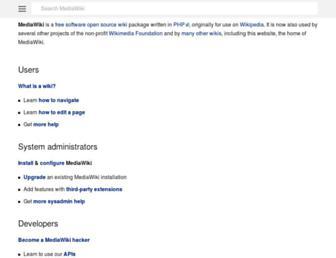 m.mediawiki.org screenshot