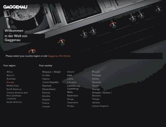 gaggenau.com screenshot