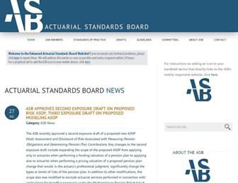 actuarialstandardsboard.org screenshot