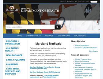 mmcp.health.maryland.gov screenshot