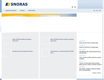 Main page screenshot of snoras.lt