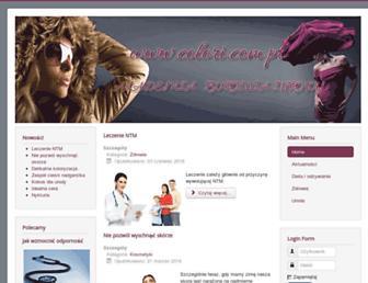 Main page screenshot of colori.com.pl
