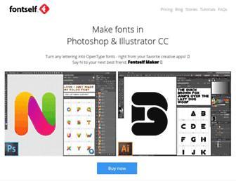 fontself.com screenshot
