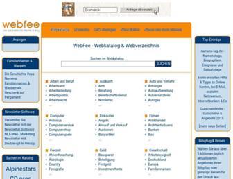Main page screenshot of webfee.de
