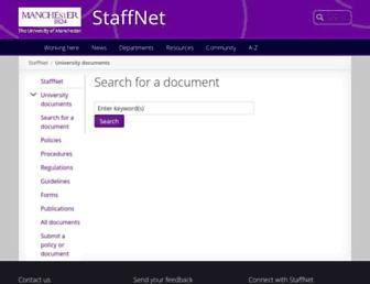 documents.manchester.ac.uk screenshot