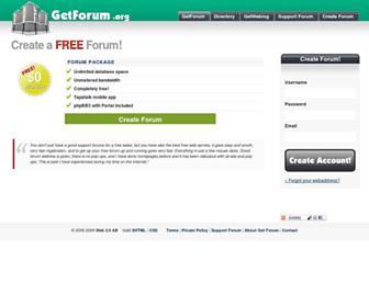 Fullscreen thumbnail of getforum.org