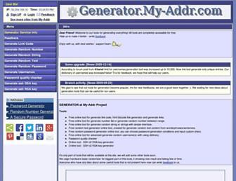generator.my-addr.com screenshot