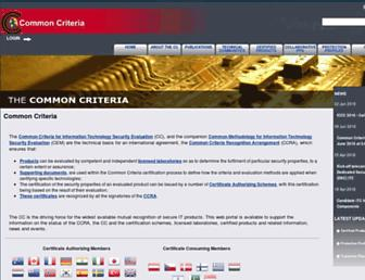 commoncriteriaportal.org screenshot