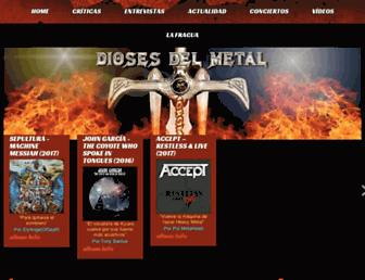 diosesdelmetal.org screenshot