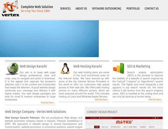 vertex.net.pk screenshot