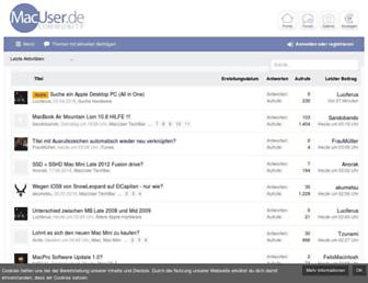 Main page screenshot of macuser.de