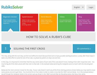 rubikssolver.com screenshot
