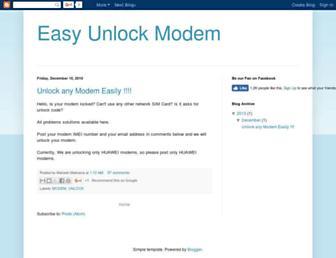 easymodemunlock.blogspot.com screenshot