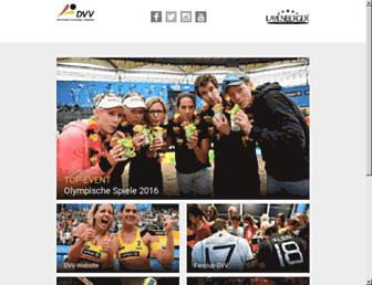 Main page screenshot of volleyball-verband.de