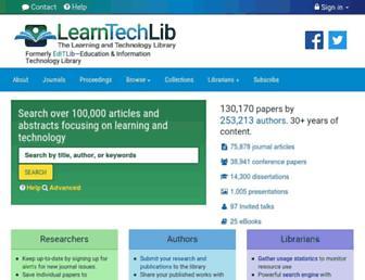 learntechlib.org screenshot