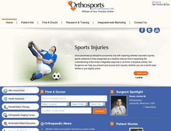orthosports.info screenshot