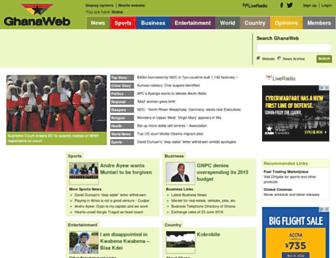 Thumbshot of Ghanaweb.com