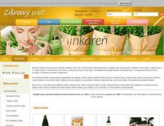 Main page screenshot of zdravysvet.sk