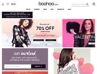 ca.boohoo.com screenshot
