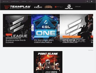 Main page screenshot of teamplay.com.br