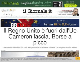 Main page screenshot of ilgiornale.it