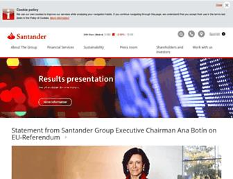 santander.com screenshot