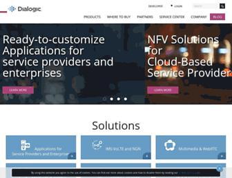 dialogic.com screenshot