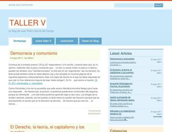 Main page screenshot of tallerv.contrarios.org