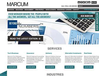 marcumllp.com screenshot