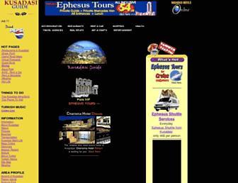 Main page screenshot of kusadasi.net