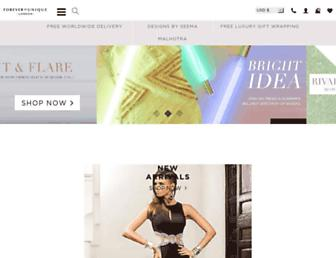 Main page screenshot of foreverunique.co.uk