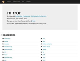 ftp.unpad.ac.id screenshot