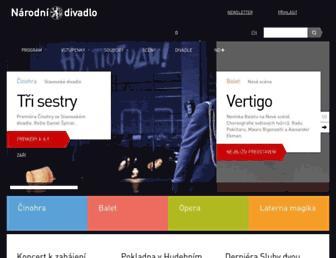 narodni-divadlo.cz screenshot