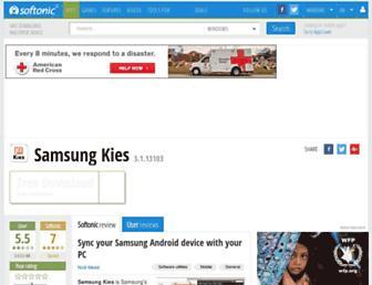 samsung-kies.en.softonic.com screenshot