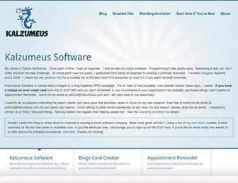 Thumbshot of Kalzumeus.com
