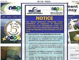 Main page screenshot of nepa.gov.jm