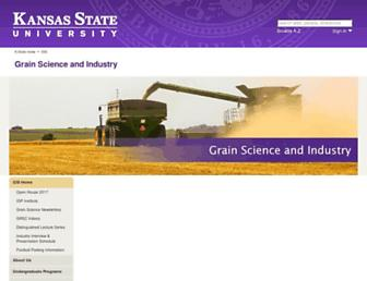 Main page screenshot of grains.ksu.edu