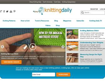 Thumbshot of Knittingdaily.com