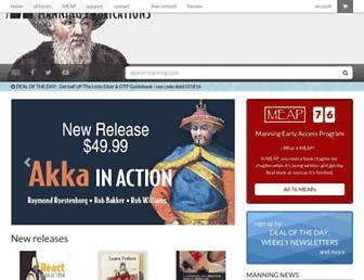 Main page screenshot of mng.bz