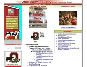 dairy.osu.edu screenshot