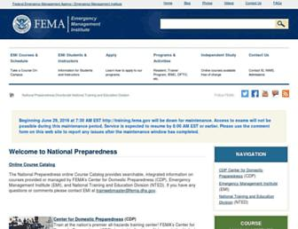 training.fema.gov screenshot
