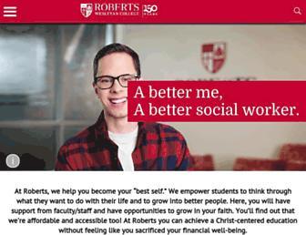 roberts.edu screenshot