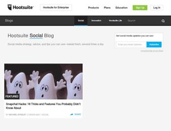 blog.hootsuite.com screenshot