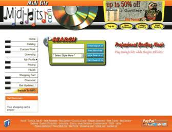 midi-hits.com screenshot