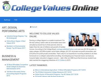 collegevaluesonline.com screenshot
