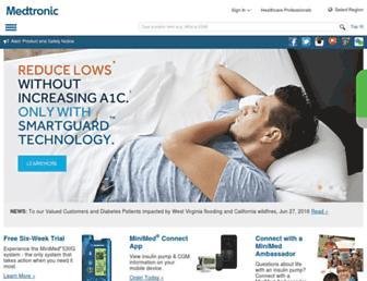 Thumbshot of Medtronicdiabetes.com