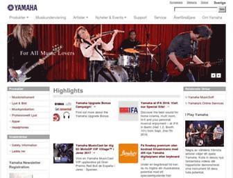 se.yamaha.com screenshot