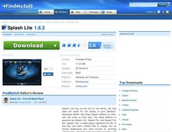 splash-lite.findmysoft.com screenshot
