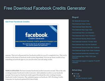 download-facebook-credits-generator.blogspot.com screenshot